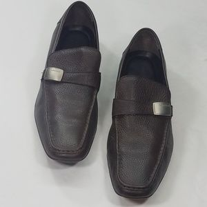 Calvin Klein Brown Leather Loafer
